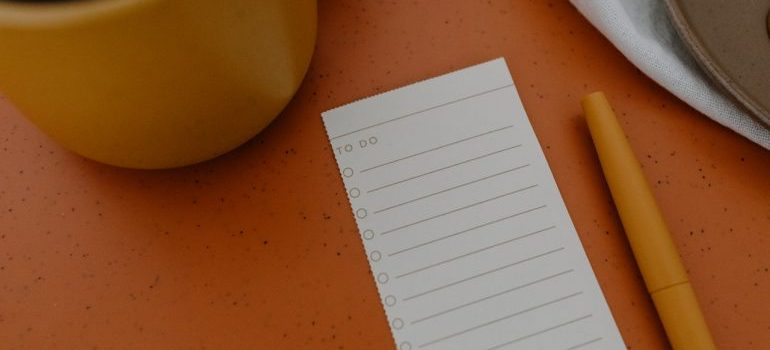 Making a list will make you closer to finding the right moving company